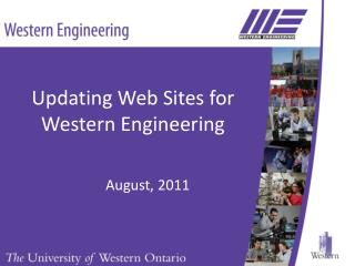Updating Web Sites for Western Engineering