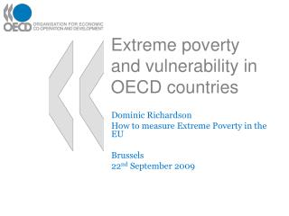 Extreme poverty and vulnerability in OECD countries