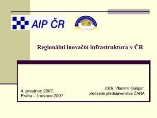 Regionální inovační infrastruktura v ČR