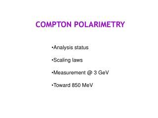 COMPTON POLARIMETRY