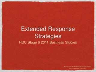 Extended Response Strategies