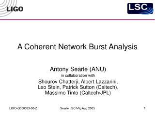 A Coherent Network Burst Analysis