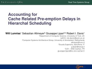 Accounting for  Cache  Related Pre-emption Delays in  Hierarchal Scheduling