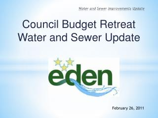 Water and Sewer Improvements Update