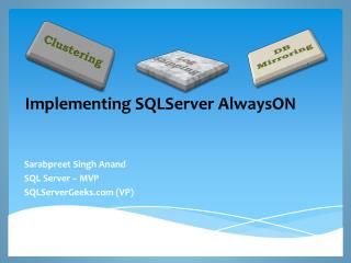 Implementing  SQLServer AlwaysON