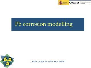 Pb corrosion modelling