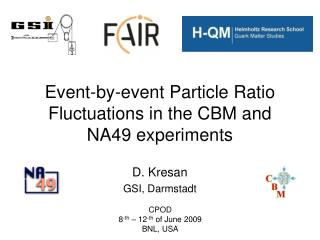 Event-by-event Particle Ratio Fluctuations in the CBM and NA49 experiments
