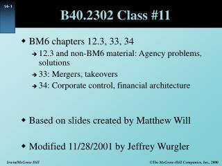 B40.2302 Class #11