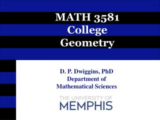 MATH 3581 College Geometry