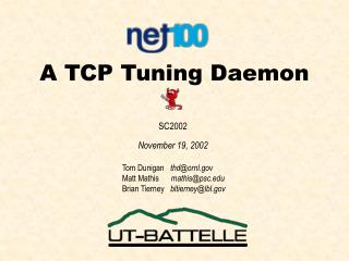 A TCP Tuning Daemon