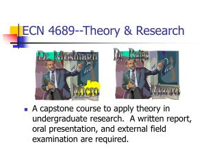 ECN 4689--Theory & Research