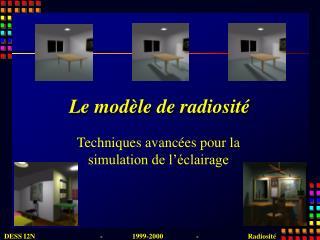 Le modèle de radiosité