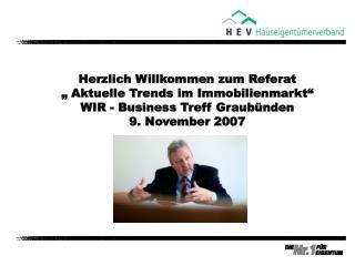 Der HEV Schweiz HEV-Politik Immobilienmarkt Schweiz Wohnen – wie weiter Schlussfolgerungen