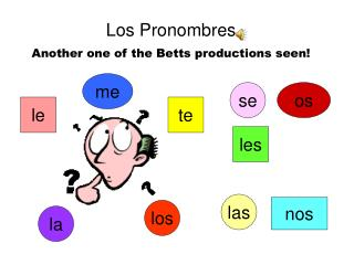 Los Pronombres Another one of the Betts productions seen!