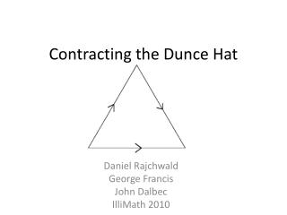 Contracting the Dunce Hat