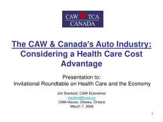 The Canadian Auto Industry: Key Features