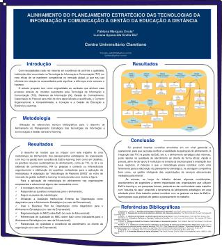 Fabiana Marques Costa 1 Luciana Aparecida Grella Biz 2 Centro Universitário Claretiano