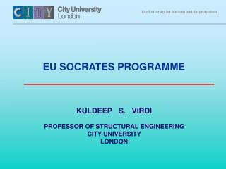 KULDEEP   S.   VIRDI PROFESSOR OF STRUCTURAL ENGINEERING CITY UNIVERSITY LONDON