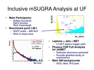 Inclusive mSUGRA Analysis at UF