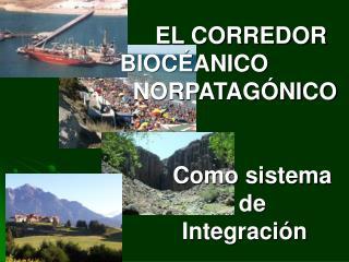 CORREDOR BIOCEÁNICO NORPATAGÓNICO Organismo Público/Privado creado por Ley  Provincial 4.014