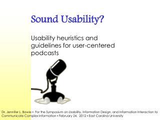 Sound Usability?