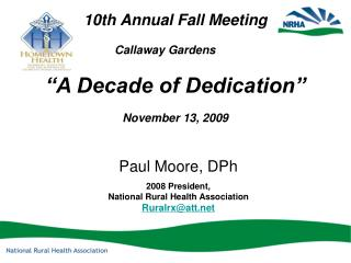 10th Annual Fall Meeting