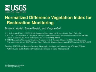Normalized Difference Vegetation Index for Restoration Monitoring