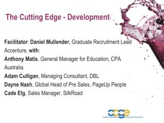 The Cutting Edge - Development