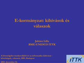 E-kormányzat: kihívások és válaszok