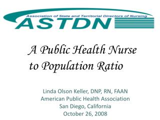 A Public Health Nurse to Population Ratio
