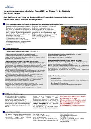 Förderschwerpunkt Wohnen -  Auszug aus den Richtlinien
