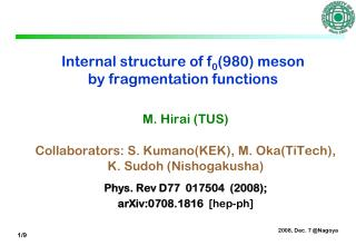 Internal structure of f 0 (980) meson by fragmentation functions