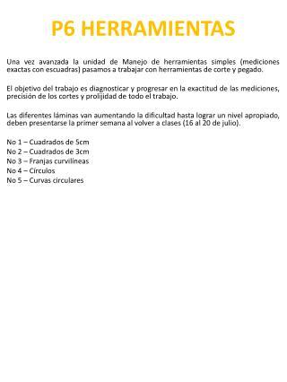 P6 HERRAMIENTAS