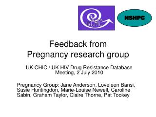 Feedback from  Pregnancy research group