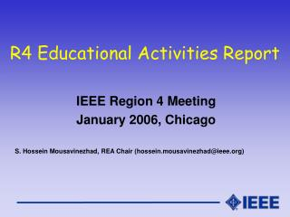 R4 Educational Activities Report