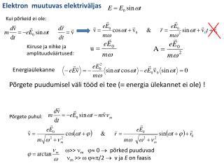 Elektron  muutuvas elektriväljas