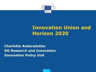 Innovation Union and Horizon 2020