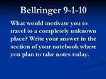 Bellringer 9-1-10