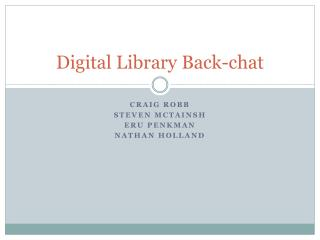 Digital Library Back-chat
