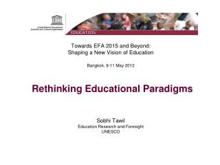 ' Post-2015' and the Future of Education