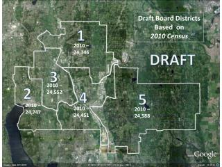 Draft Board Districts Based  on  2010 Census