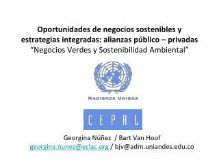 Georgina  Núñez  / Bart Van  Hoof georgina.nunez@eclac / bjv@adm.uniandes.co