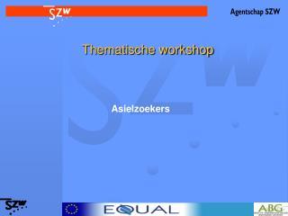 Thematische workshop