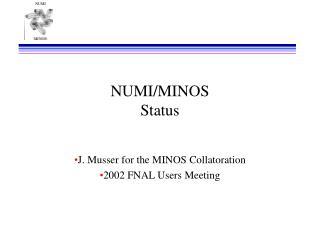 NUMI/MINOS Status