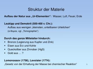 Struktur der Materie