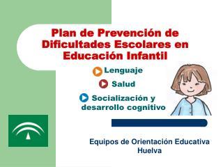 Plan de Prevención de Dificultades Escolares en Educación Infantil