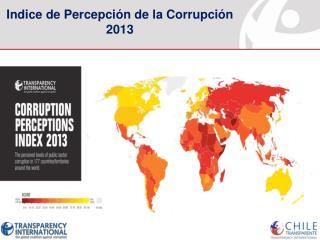 Indice de Percepción de la Corrupción 2013
