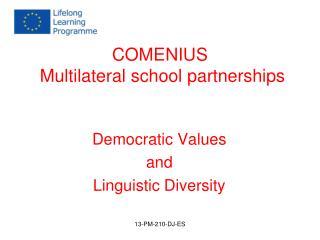 COMENIUS  Multilateral school partnerships