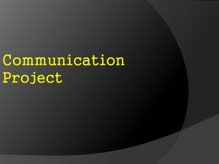 Communication Project