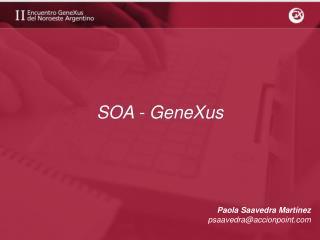 SOA - GeneXus